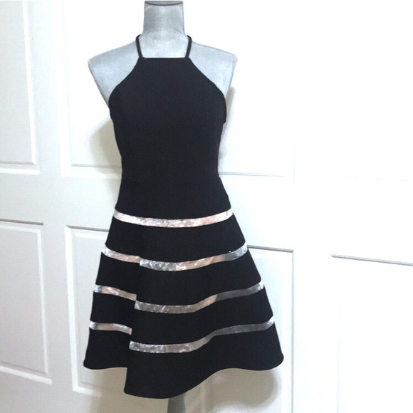 City Studio Dresses & Skirts - City Studio Fit and Flare Black And Nude Dress